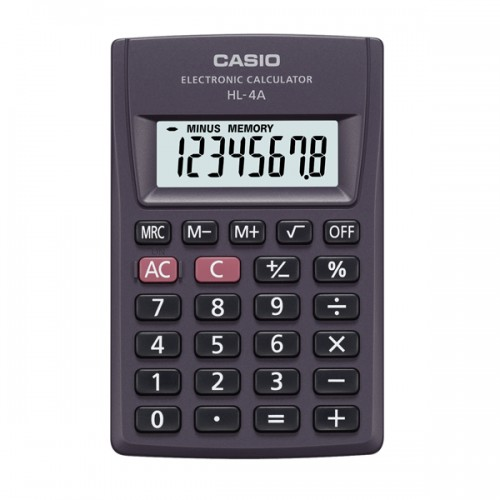 Calculadora Casio HL-4W/4T/4 8 digitos