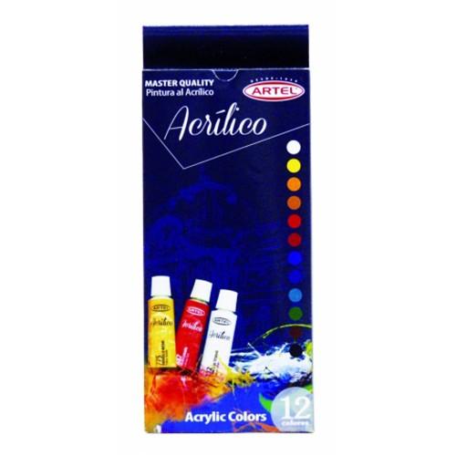 Set acrílicos Artel 12 colores x12ml