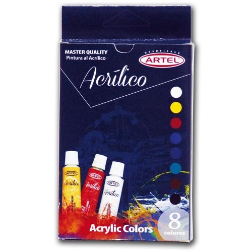 Set acrílicos Artel 8 colores x12ml